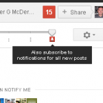 Update Google+ Notifications
